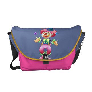 Retro Colorful Fun Party Circus Clown Courier Bag
