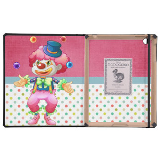 Retro Colorful Fun Party Circus Juggling Clown Covers For iPad