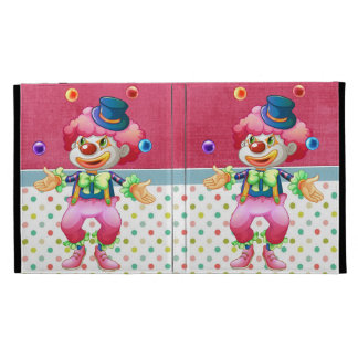 Retro Colorful Fun Party Circus Juggling Clown iPad Folio Covers