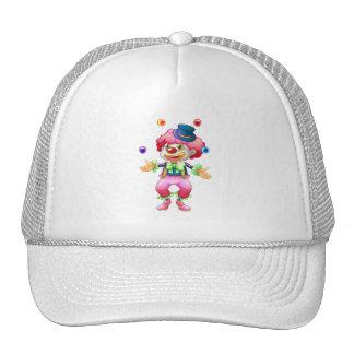 Retro Colorful Fun Party Circus Juggling Clown Trucker Hats