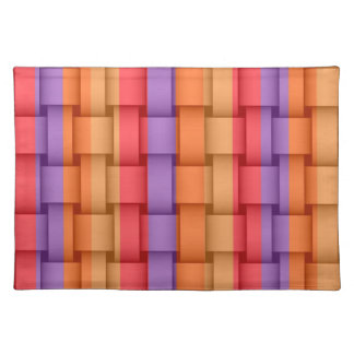 Retro colorful graphic design cloth placemat
