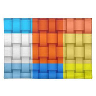 Retro colorful graphic design placemat