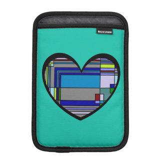 Retro Colorful Heart Abstract iPad Mini Sleeve