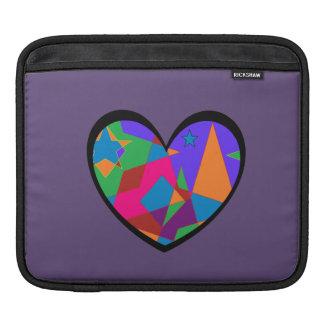 Retro Colorful Heart Abstract iPad Sleeve