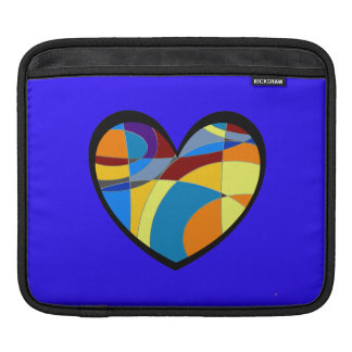Retro Colorful Heart Abstract Sleeve For iPads