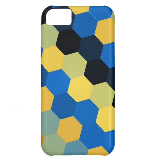 Retro colorful hexagons seamless graphic 2 iPhone 5C covers