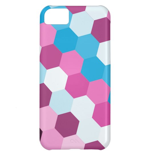 Retro colorful hexagons seamless graphic 3 case for iPhone 5C