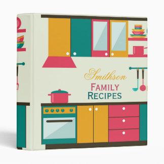 Retro Colorful Kitchen Recipe Binder