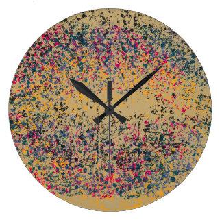 Retro Colorful Lips #2 Large Clock