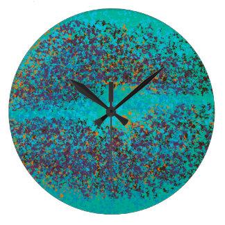 Retro Colorful Lips Large Clock