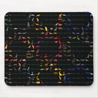 Retro Colorful Modern Animals Pattern #2 Mouse Pad
