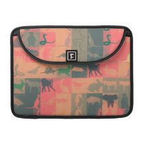 Retro Colorful Modern Animals Pattern #2 Sleeve For MacBooks