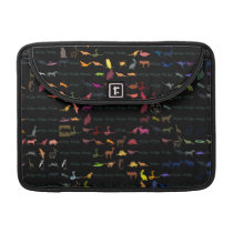 Retro Colorful Modern Animals Pattern Sleeve For MacBooks
