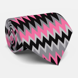Retro Colorful Modern Chevron ZigZag Neck Tie