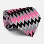 Retro Colorful Modern Chevron ZigZag Tie
