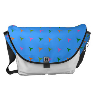 Retro Colorful Modern Geometric Pattern 4 Courier Bag