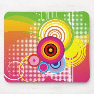 Retro colorful mousepad