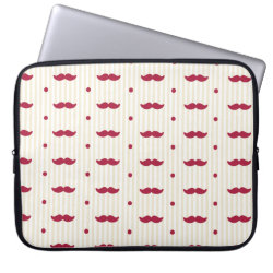 Neoprene Laptop Sleeve 15' with Mustache Patterns design