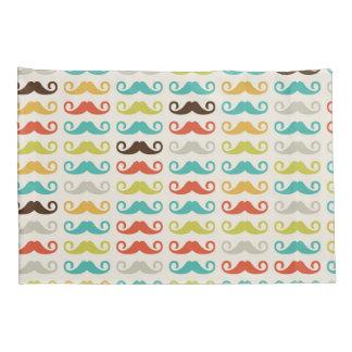 Retro Colorful Mustache Stache Handlebar Pillow Case
