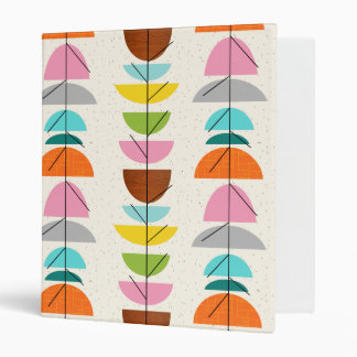 Retro Colorful Nests Binder