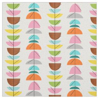 Retro Colorful Nests Fabric