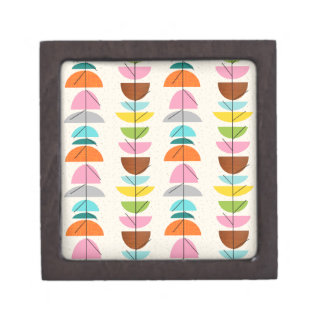 Retro Colorful Nests Magnetic Wooden Box