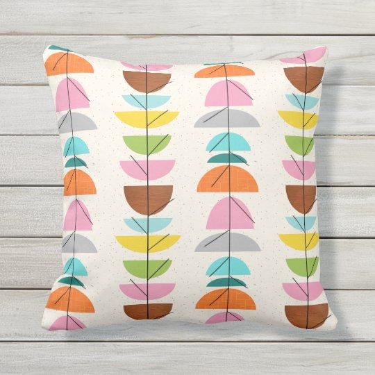 retro colorful nests outdoor pillow zazzle com