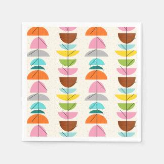 Retro Colorful Nests Paper Napkins