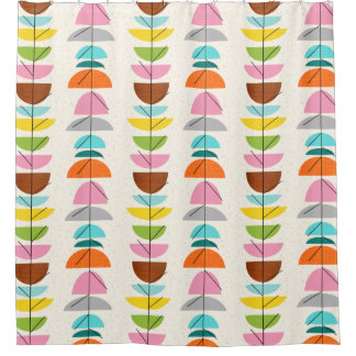Retro Colorful Nests Shower Curtain