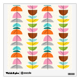 Retro Colorful Nests Wall Decal