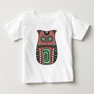 Retro Colorful Owl Boho Bohemian Bird Custom Baby T-Shirt