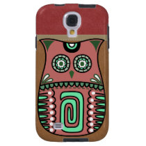 Retro Colorful Owl Boho Bohemian Bird Custom Galaxy S4 Case