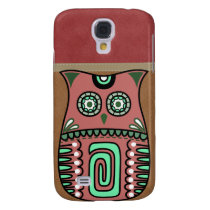 Retro Colorful Owl Boho Bohemian Bird Custom Galaxy S4 Cover