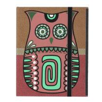 Retro Colorful Owl Boho Bohemian Bird Custom iPad Case