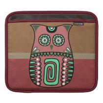 Retro Colorful Owl Boho Bohemian Bird Custom iPad Sleeve