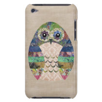 Retro Colorful Owl Boho Bohemian Bird Custom iPod Touch Case