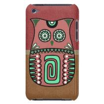Retro Colorful Owl Boho Bohemian Bird Custom iPod Touch Cover