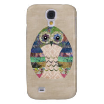 Retro Colorful Owl Boho Bohemian Bird Custom Samsung Galaxy S4 Cover