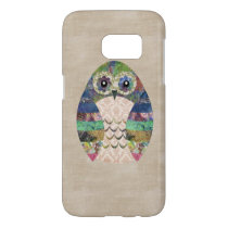 Retro Colorful Owl Boho Bohemian Bird Custom Samsung Galaxy S7 Case