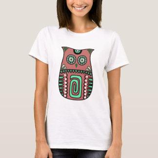 Retro Colorful Owl Boho Bohemian Bird Custom T-Shirt