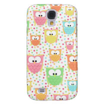 Retro Colorful Owls Galaxy S4 Cover