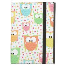 Retro Colorful Owls iPad Air Cover