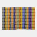 Retro colorful painting wicker art graphic design kitchen towel