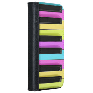 Retro Colorful Pastels Piano Keys iPhone 6/6s Wallet Case
