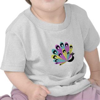 Retro Colorful Peacock T-shirts