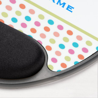 Retro Colorful Polka Dots Gel Mouse Pad