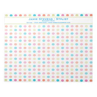 Retro Colorful Polka Dots Notepad