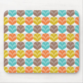 Retro Colorful Polka Dots Pattern Mouse Pad