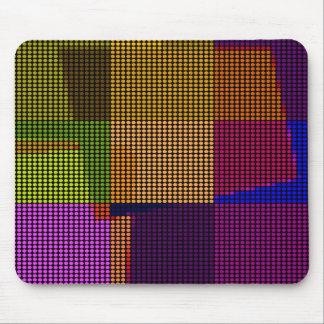 Retro Colorful Polka Dots Pop Art Mouse Pad