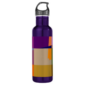 Retro Colorful Pop Art 2 Stainless Steel Water Bottle